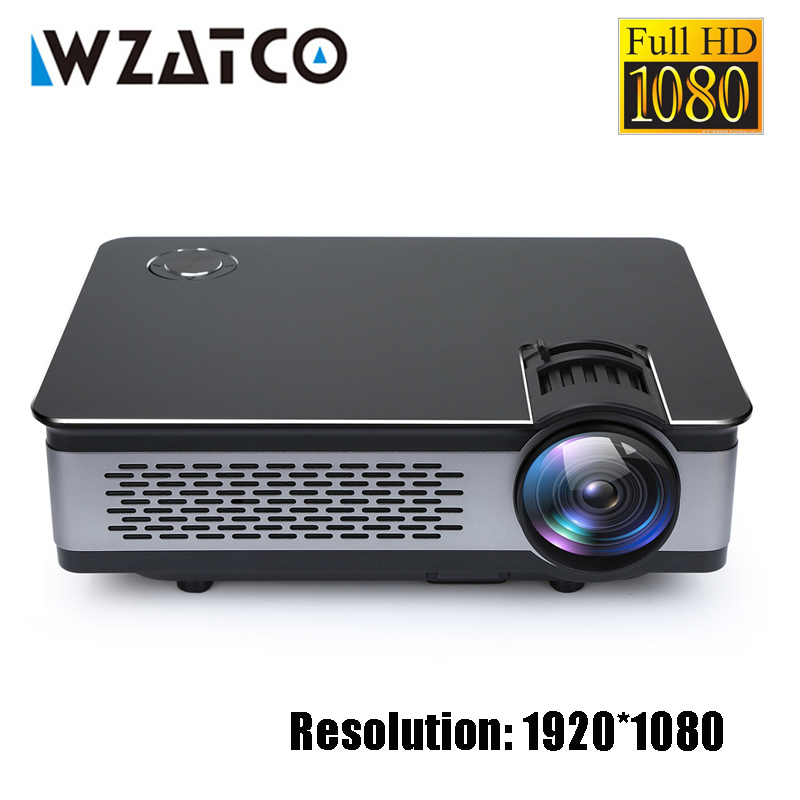 WZATCO CT580 Réel Full HD Projecteur 1080 p 1920*1080 3800 Lumen HDMI Home Cinéma Android 7.1 Projecteurs WIFI beamer LCD Proyector