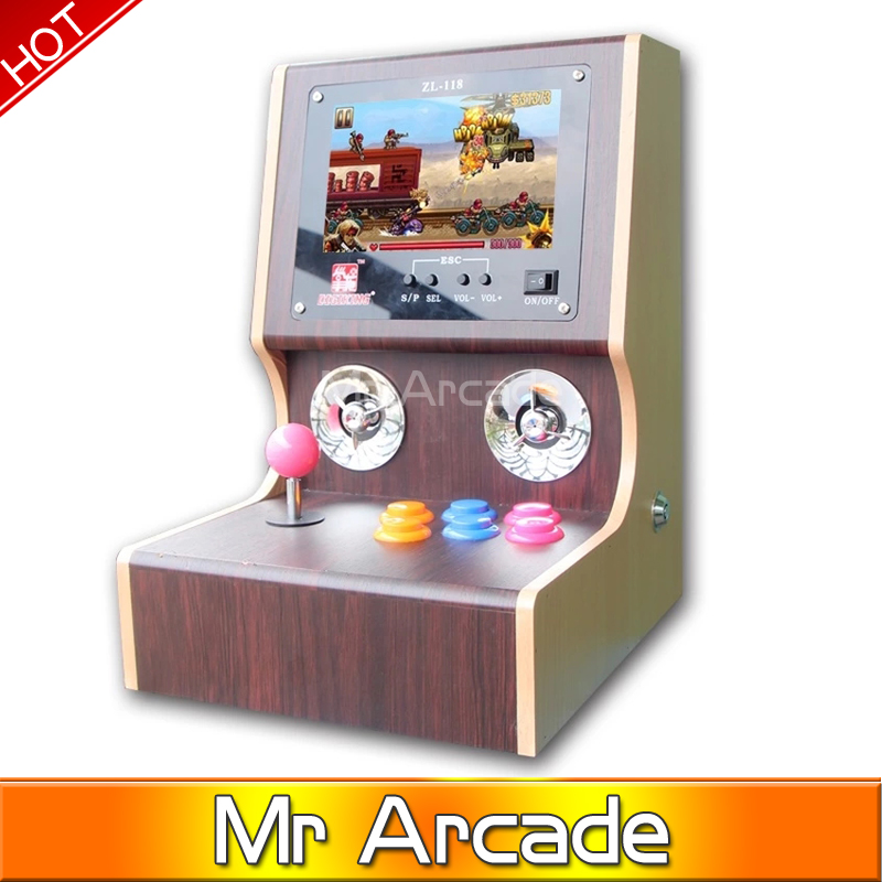 Newest Mini arcade machines/ Family Professional classic video game console/ arcade bundle classic video games for neo geo mini table top air hockey game pushers pucks family xmas gift arcade toy playset