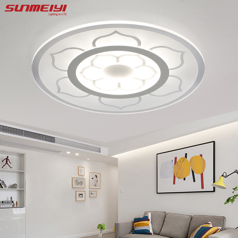 New Circle Indoor Lighting Modern LED Ceiling Lights for Living Room Bedroom Lamp lamparas de techo abajur Ceiling Lamp Fixtures