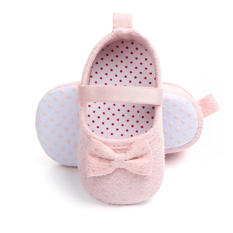 New Baby Shoes Sweet Dot Butterfly Bow Shoes Girls Baby Prewalker Easy And Simple To Handle Baby Shoes Mother & Kids
