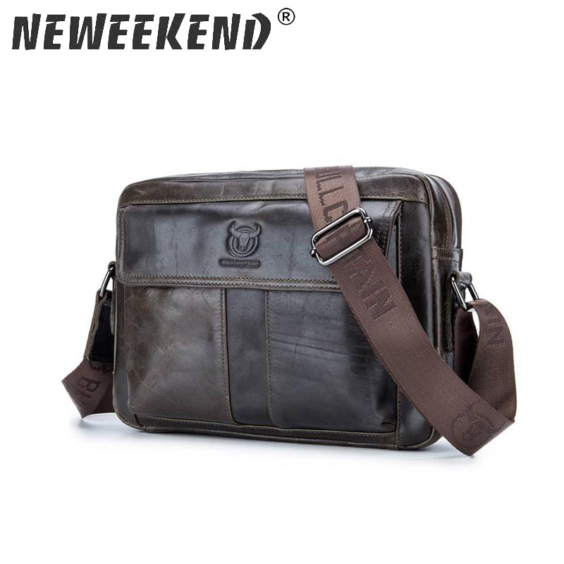 Genuine Leather Shoulder Bags Fashion Men Messenger Bag Small Ipad Male Tote Vintage New Crossbody Bags Men's Handbags 035 zznick genuine leather shoulder bags fashion men messenger bag small ipad male tote vintage new crossbody bags men s handbag