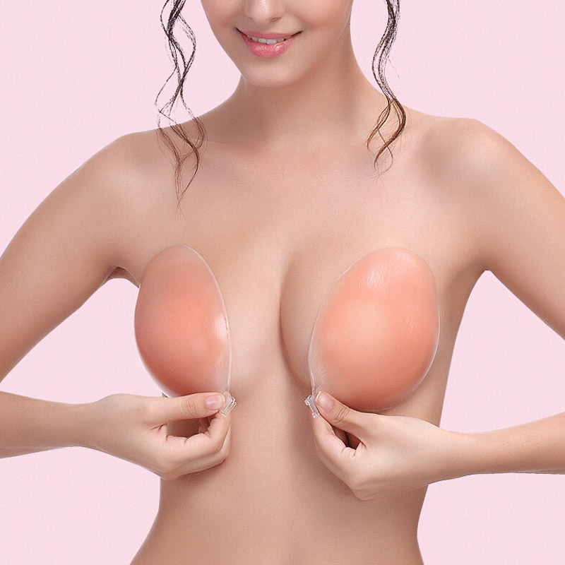 Silicone Bra Invisible Push Up Sexy Stealth Adhesive Strapless Backless Breast Enhancer For Women Lady FS99
