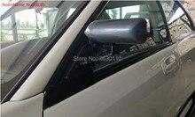 цены на 2Pcs Universal Car Carbon Fiber Look ABS Car Autos Blue Rear View F1 Carbon Look racing Side Mirror Glass  в интернет-магазинах