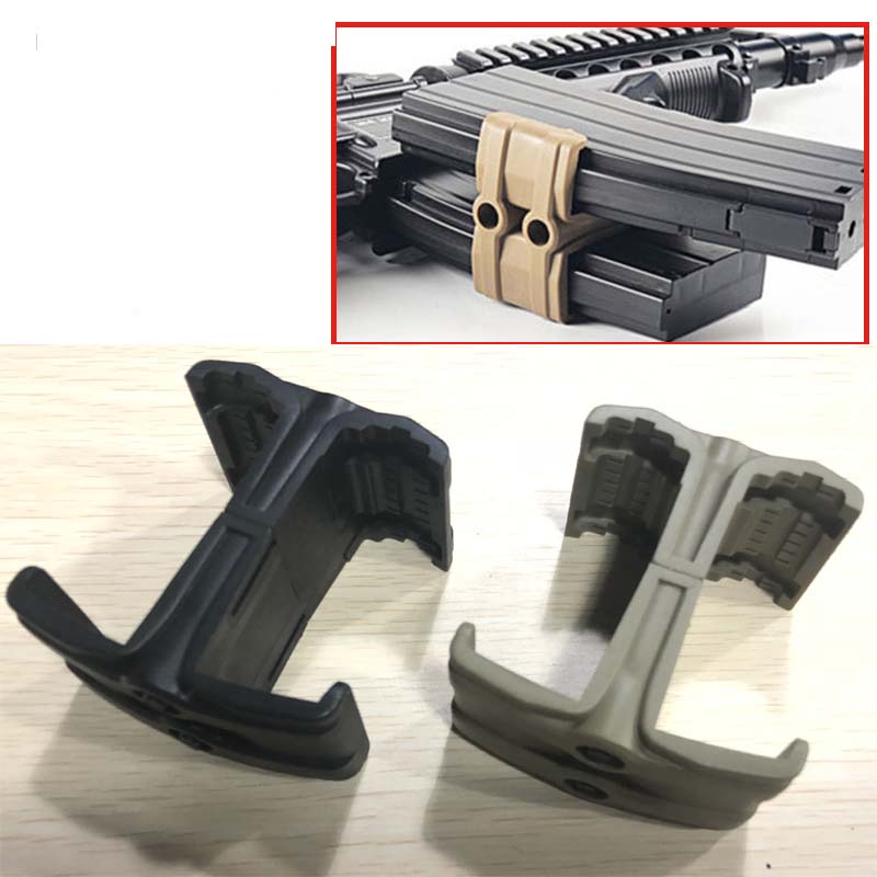 Magorui Magazine Coupler Double ABS Link Clamp Mag Coupler 5.56 X45mm NATO 30/40 Round Magazines
