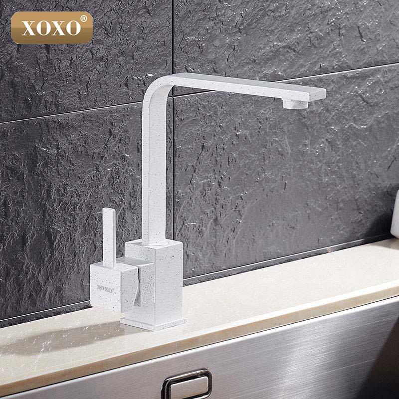 XOXO robinet de cuisine robinet d'eau froide et chaude mitigeur robinets de cuisine bec pivotant cuisine évier mitigeur robinets 83030 - 2