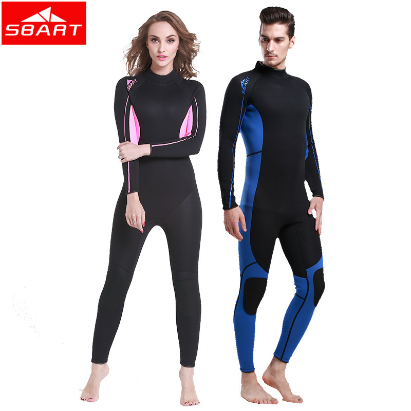 SBART Neoprene Wetsuit Women Surfing 3MM Diving Suit Upf50+ Long Sleeve Diving Wetsuits for Women Long Swimming Suits 2XL 1013N sbart upf50 rashguard 2 bodyboard 1006