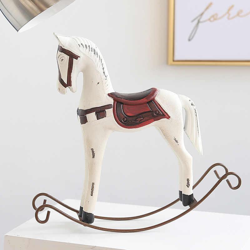 Vintage Style Wood Rocking Horse Animal