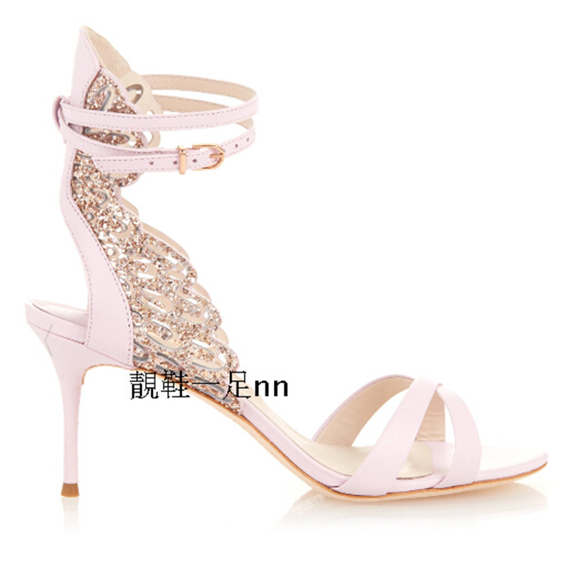Summer Luxury Brand shoes woman Women Sandalias Mujer Open Toe Sexy High Heel Sandals Cut Out Sandalia Gladiadora Free Ship