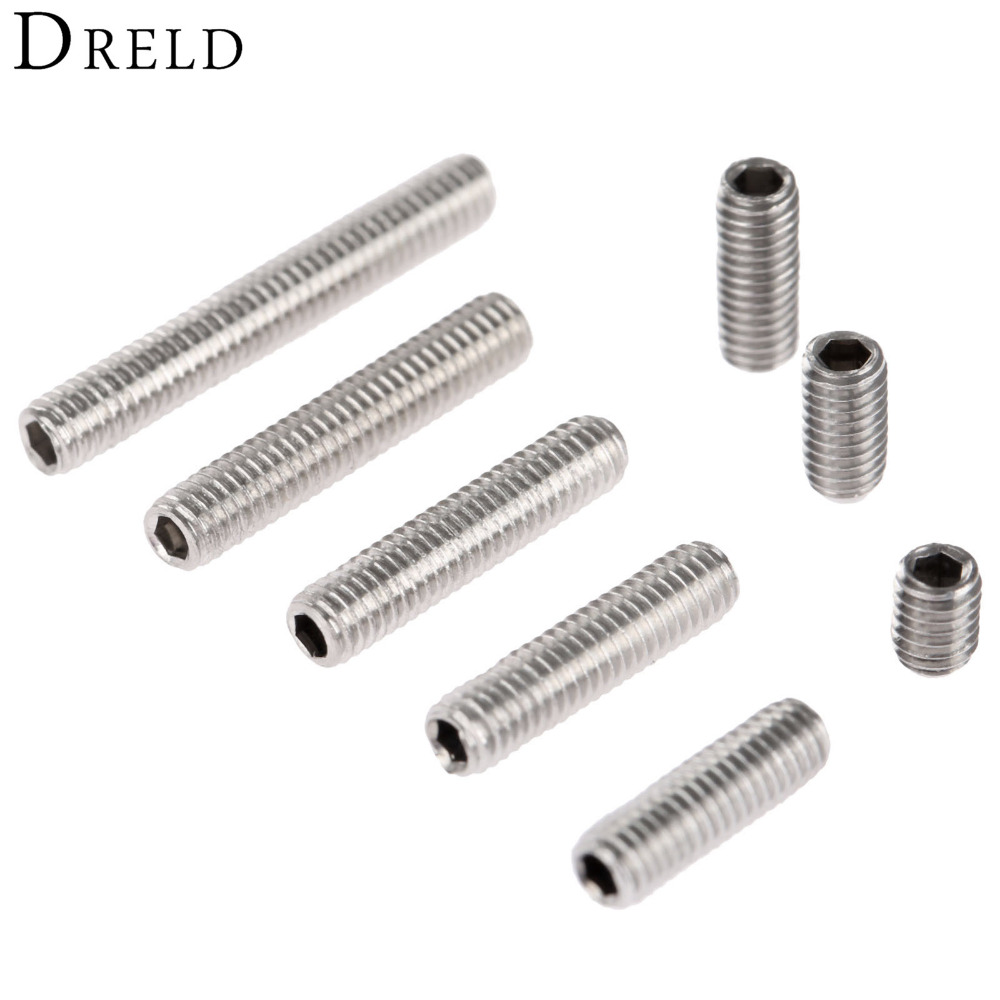50Pcs M3 Stainless Steel Allen Head Hex Socket Grub Screw Bolts Nuts Fasteners M3 Screws Hardware M3 x4/6/8/10/12/14/16/20mm stainless steel button head screw hex socket bolts type m3 3mm bolt size m3 x 20mm your pack quantity 30