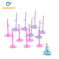 12pcs Toy Stand Model Support Frame Prop Up For Dolls Pink Purple Doll Accessories Support For