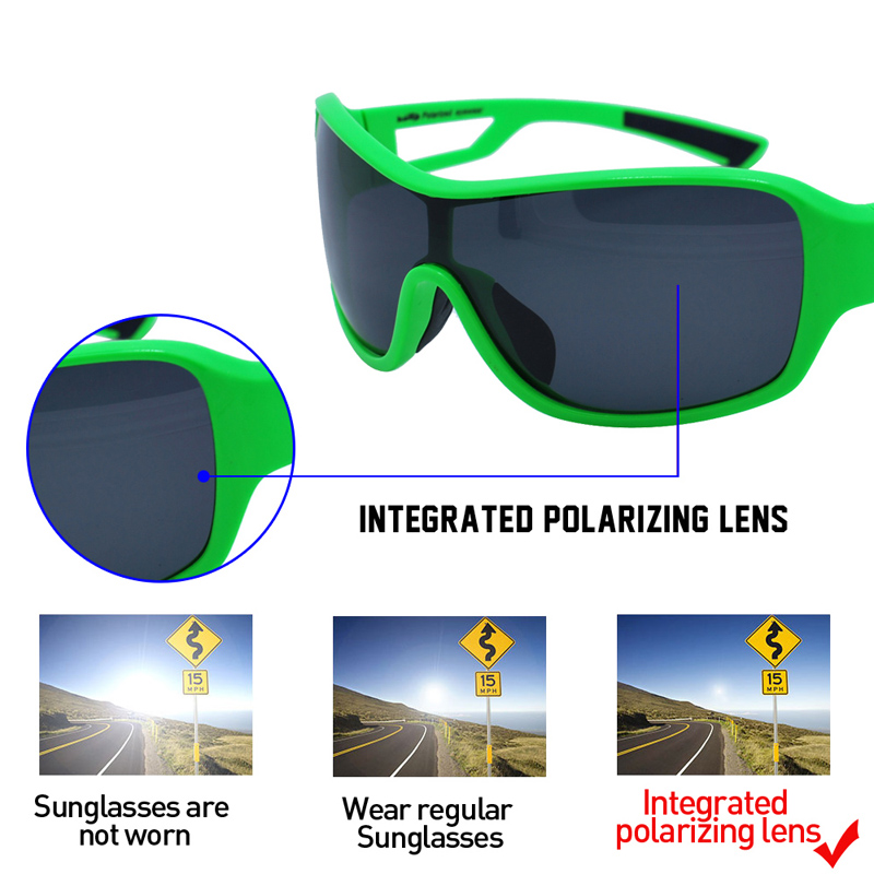 Купить с кэшбэком Men Womens Glassses Pc Polarized Designer Fashion Sports Sunglasses for Baseball Cycling Fishing Golf TR90 Superlight Frame