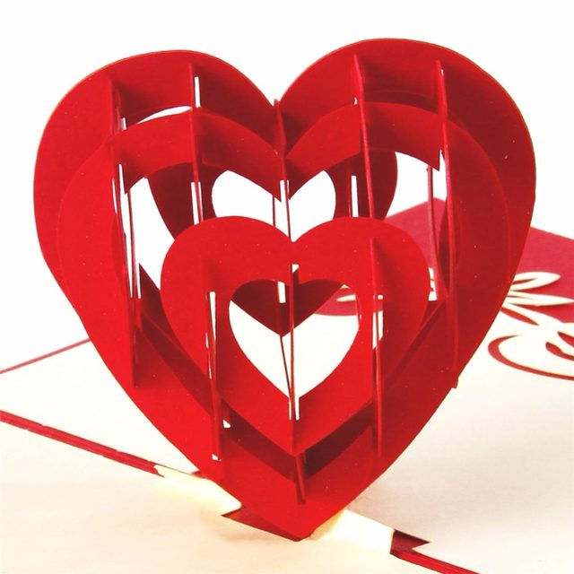 Online shop promotion romantic heart 3d valentines day pop up promotion romantic heart 3d valentines day pop up greeting card laser cut with envelope postcard hollow carved handmade gift m4hsunfo