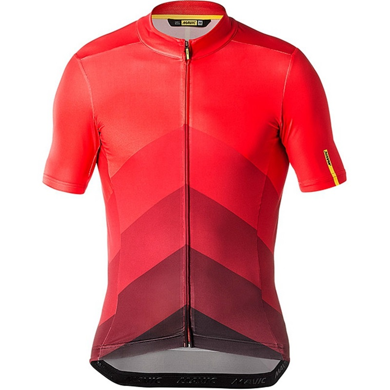 Red MAVIC Downhill Jersey Mountain Bike Motorcycle Cycling Jersey Shirt Ciclismo Clothes Men MTB T-Shirt DH MX Jersey Cycling