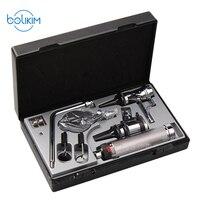 BOLIKIM Профессиональный Otoscopio набор для диагностики медицинского ухода за ушами светодиодный портативный отоскоп уход за носом уход за ртом