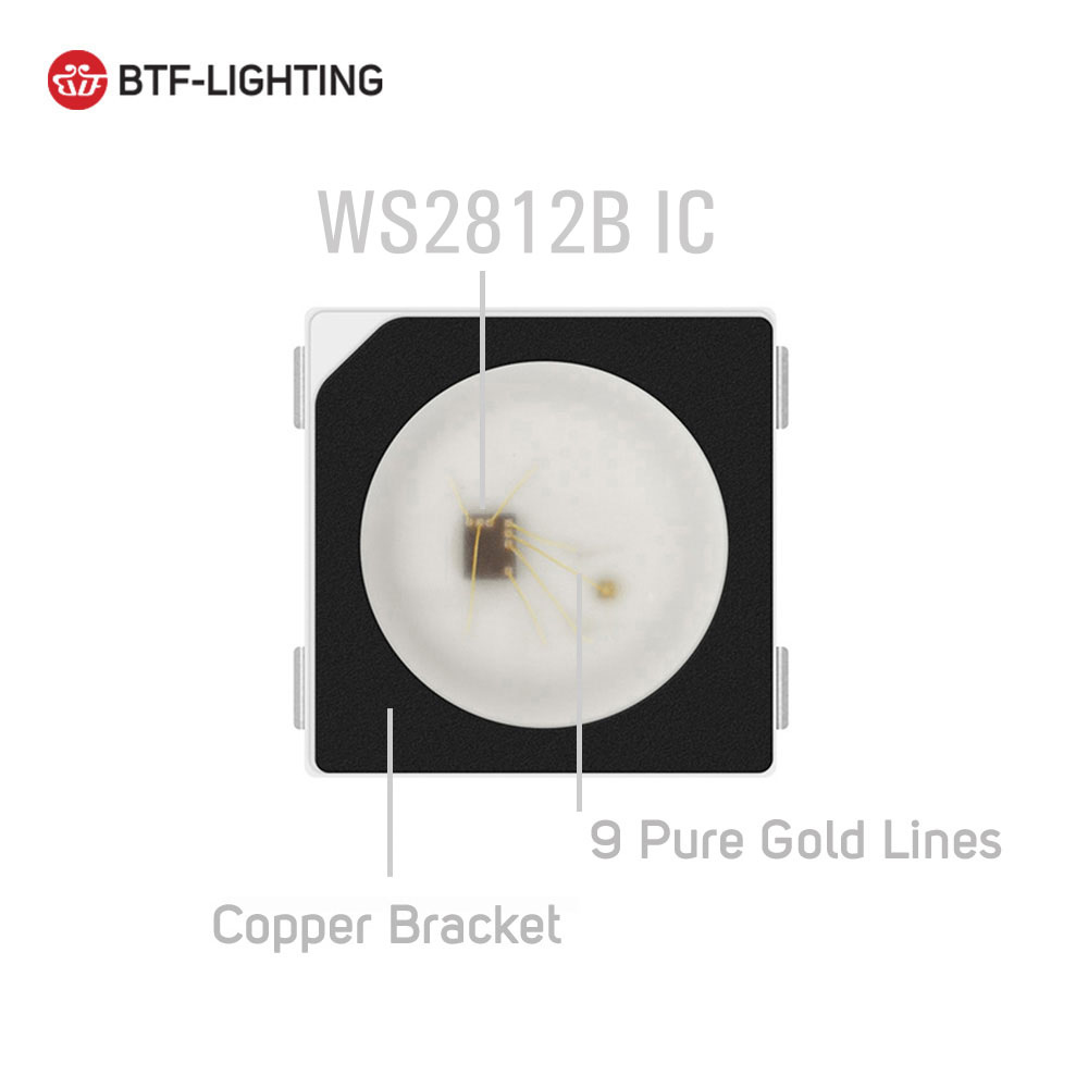 WS2812B LED-chip 10 ~ 1000st 5050 RGB SMD Svart / vit version WS2812 - LED-belysning - Foto 2