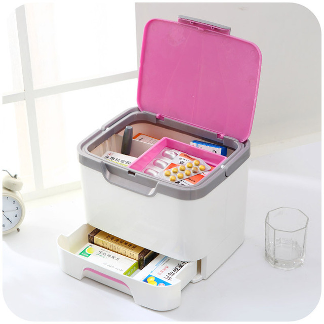 Japanese Fashion Portable Medicine Cabinet With Drawers Medicine Storage  Box For Home Use Medical Kit K3184