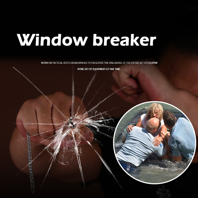 In Stock! Man's Accessories EDC Outdoor Self-defense Pectoral Cross Necklace Window Breaker Portable Tactical Women Anti-wolf 4