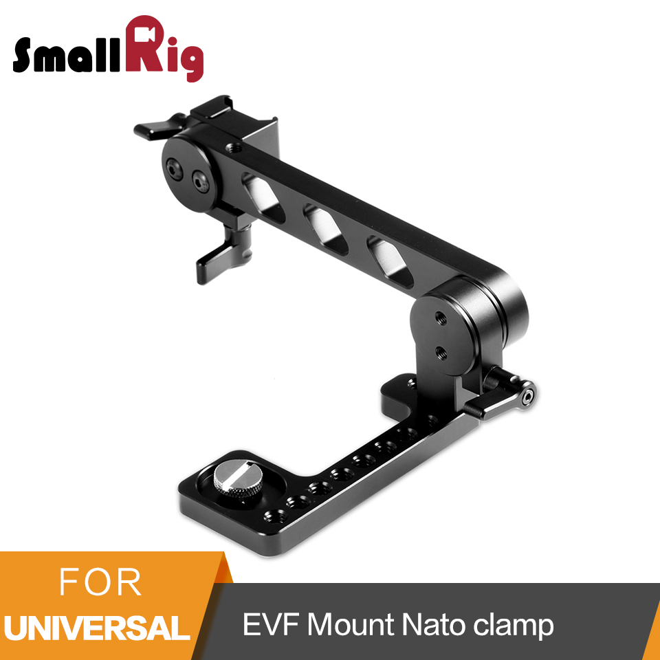 SmallRig EVF Mount LCD Monitor Bracket with Nato Clamp Built-in for Zacuto Gratical HD/BMVA/SmallHD 502HD - 1897