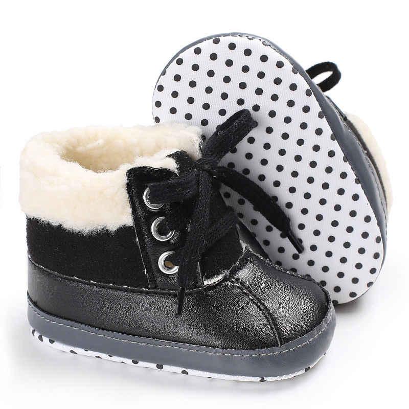 Kız Çizmeler Erkek 2018 Kış sıcak Pu Deri Su Geçirmez Çocuk Botları Moda Yürümeye Başlayan Kar Botları Çocuk Martin Çizmeler Ayakkabı Çocuk