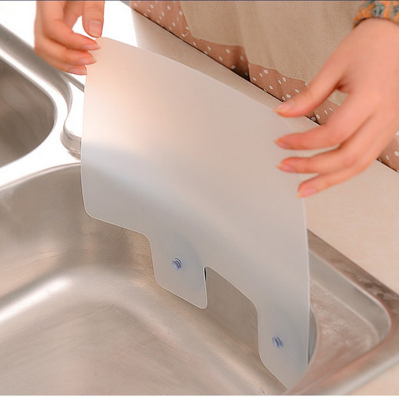 Kitchen wash water splash guards basin sucker plastic dish for Splash guard kitchen sink