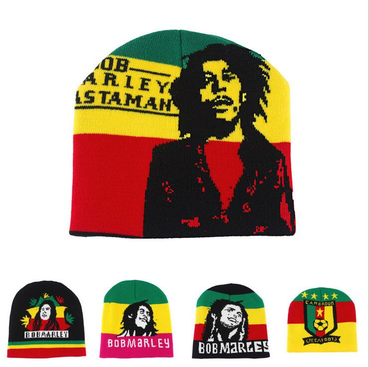 2016 Fashion men hats women and men Jamaican knit   beanie   Rasta hat Winter hats caps BOBMARLEY hats for women and men