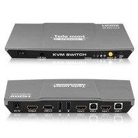 Tesla Smart High Quality HDMI 2 0 USB HDMI KVM Switch 2 Port USB KVM HDMI