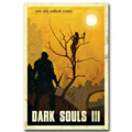Dark Souls 1 2 3 Art Silk Fabric Poster Print 13x20 24x36inch Game Wall Picture for Wall Decor 004