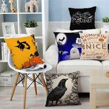 Wholesale Popular Decorative Throw Pillow Cover Halloween Cute Cartoon Seat Waist Bird Cushion Pillows Set For Sofa