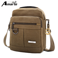 2018 New Fashion Amarte Men Bag Waterproof Canvas Messenger Bag Business Casual Briefcase Crossbody Bag Male