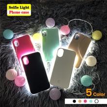 Роскошный светящийся телефон чехол для iPhone 6 6s 7 8 Plus X идеальные селфи сверкающие с подсветкой чехол для samsung S8 S9 plus чехол