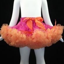 Платье-пачка для Хэллоуина для девочек, костюмы Одежда для девочек для маленьких девочек; сезон осень-зима Одежда для маленьких девочек; платье-пачка ярко-розовый и оранжевая юбочка Pettiskirt для взрослых