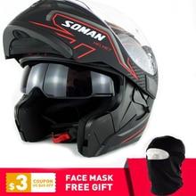 DOT Double Visor Full Face Helmet Motorcycle K5 Helmets Motorbike Capacetes Street Racing Moto Cascoes недорого