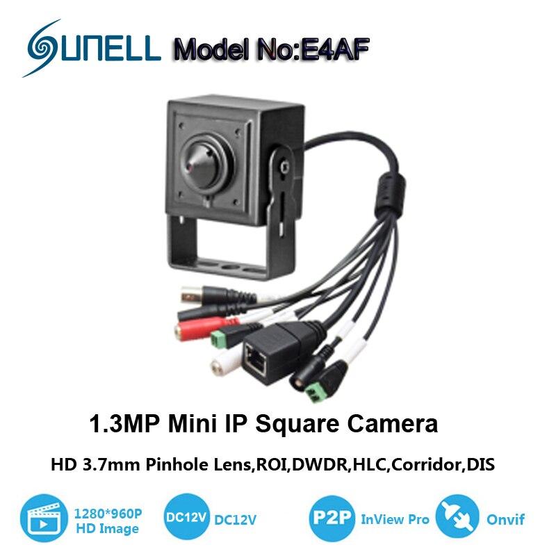 bilder für Neue Heiße 1.3MP 3,7mm objektiv mini-ip-kamera 1280*720 P hause sicherheitssystem cctv überwachungs HD onvif video audio Alarm P2P Cam