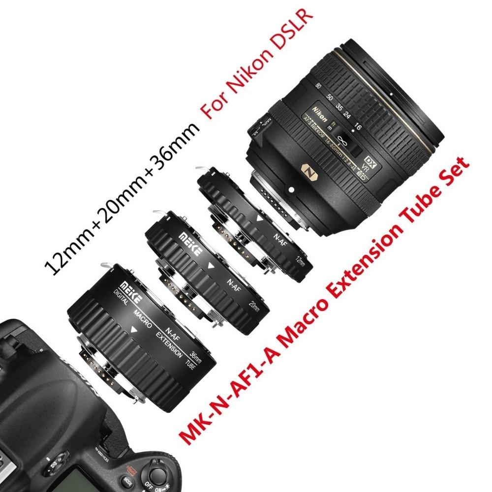 Meike N-AF-A Autofocus D'extension Macro Anneau de Tube pour Nikon D60 D90 D3000 D3100 D3200 D5000 D5100 D5200 D7000 D7100 Caméra DSLR - 4