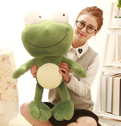 NEW YEAR Gift 1pc 70cm cartoon big eye green frogs plush doll pillow cushion cute stuffed toy creative baby birthday present luxury flip stand case for samsung galaxy tab 3 10 1 p5200 p5210 p5220 tablet 10 1 inch pu leather protective cover for tab3