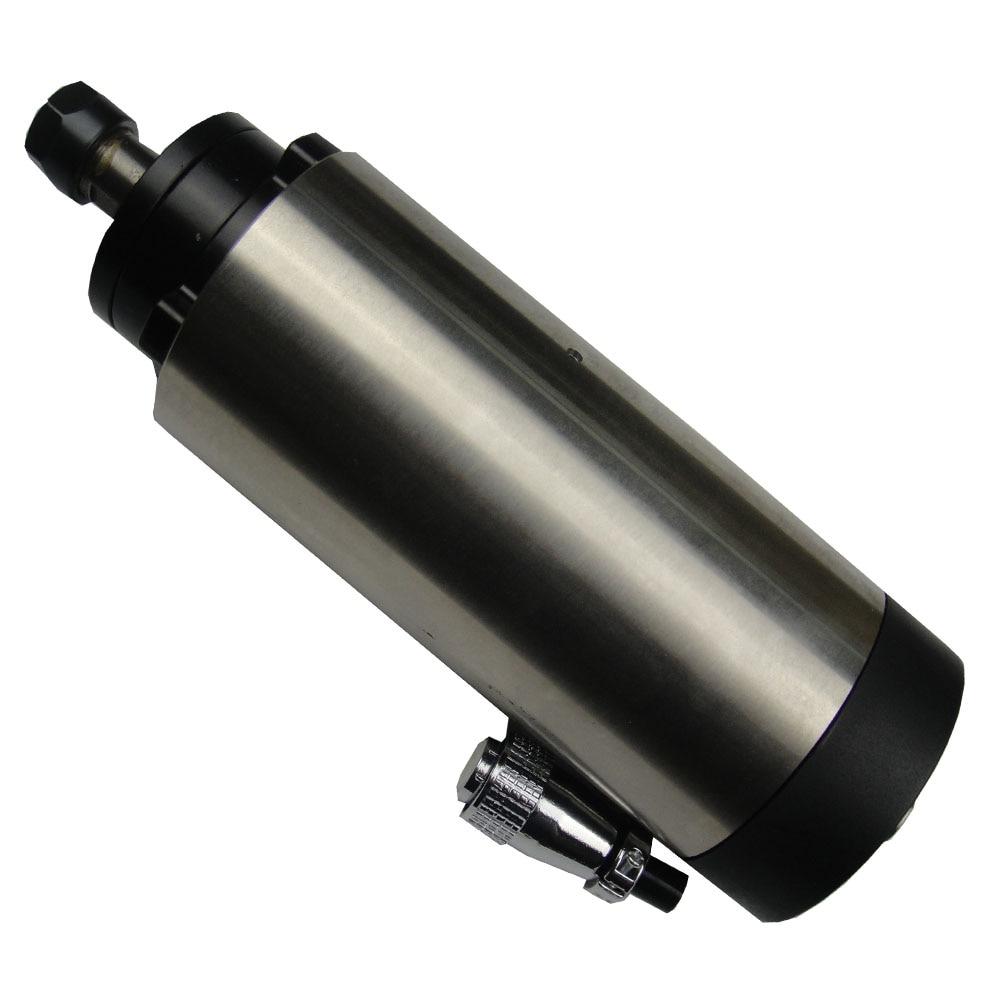 2.2KW CNC broche refroidie par air, 24000 tr/min, ER20, 400 HZ diamètre 80mm avec 4 roulements à l'intérieur