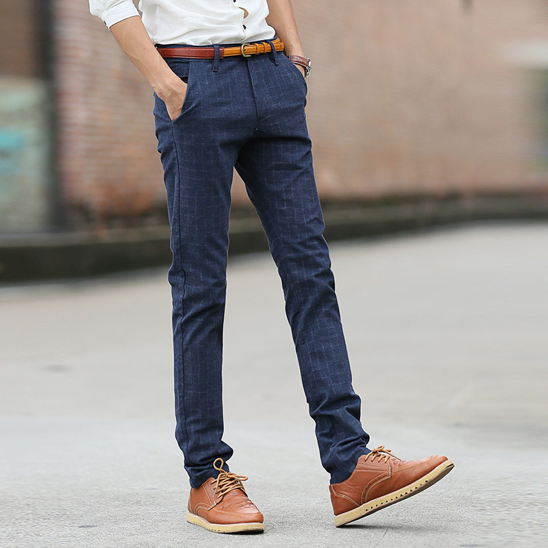 2a025a81ade Plus size pantalon homme 2018 New Men s casual pants Spring Summer Korean  Slim Khkai Black men pants Business cargo pants Hot-in Casual Pants from  Men s ...