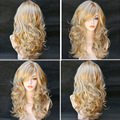 Long Curly Wigs Synthetic Hair Wig for Women Cheap American Fake Hair Full Wigs Jenner Female Wig