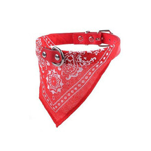 Adjustable Dog Neck Scarf | Bandana With Leather Collar
