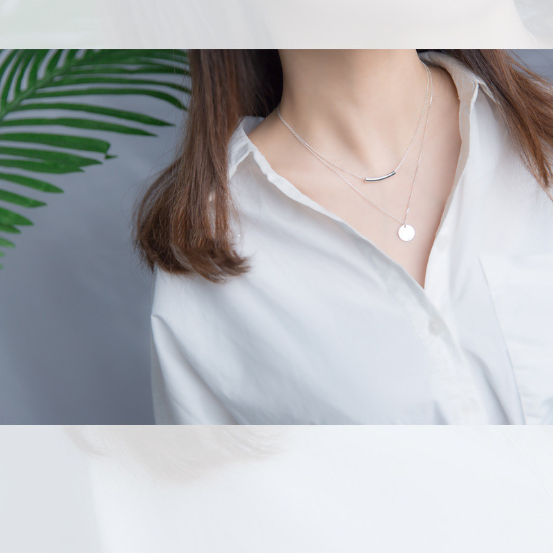 HTB12bgMBNuTBuNkHFNRq6A9qpXag INZATT Real 925 Sterling Silver Personality Pendant Necklaces Minimalist Choker Fine Jewelry For Women Party Cute Accessories