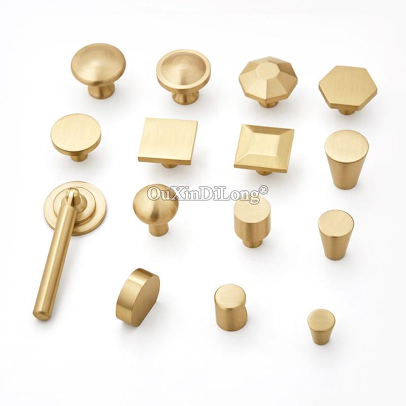 Multi-choices 20PCS European Solid Brass Kitchen Cabinet Door Handles Cupboard Wardrobe Drawer Pulls and Knobs