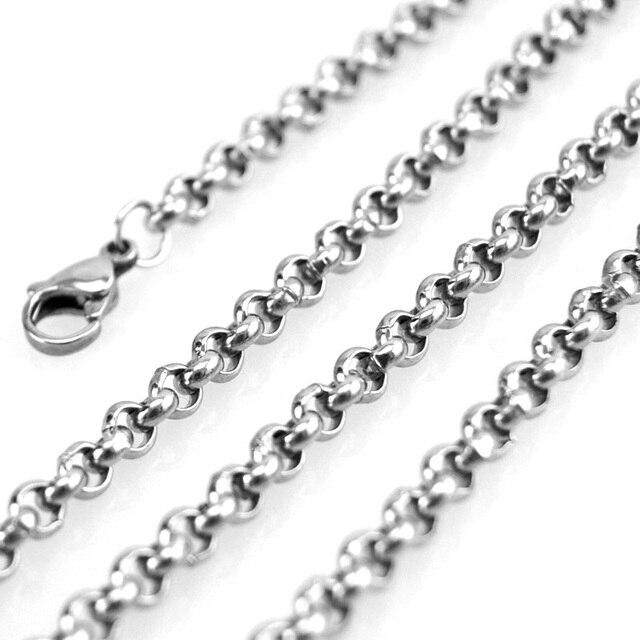 """Diy biżuteria 10mm 0.35 """"gruby big Rolo łańcuch naszyjnik bransoletka w stylu punk ze stali nierdzewnej sprzedaży w miernik hurtownie łańcuch"""