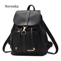 Nevenka New Spring Women Bag Preppy Backpack PU Leather Fresh Zipper Bags Solid Pendants Casual Backpacks