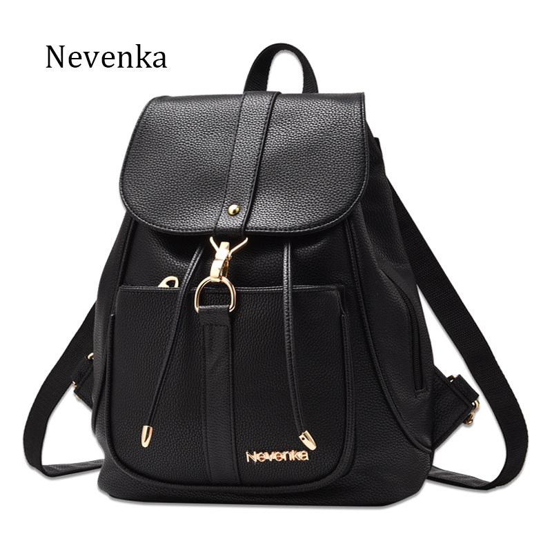 62733c3baf81 Nevenka New Spring Women Bag Preppy Backpack PU Leather Fresh Zipper Bags  Solid Pendants Casual Backpacks