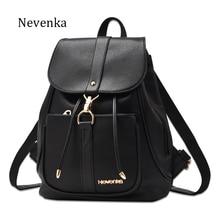 Nevenka New Spring Women Bag Preppy Backpack PU Leather Fresh Zipper Bags Solid Pendants Casual Backpacks Lady Shoulder Bag