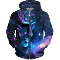 Cloudstyle Men S Winter Hoodies 20173D Printing Animals Sweatshirts With A Zipper Fashion Design Pullover Cat