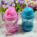 Hot Sale 280ml Cute Baby Cup Kids Children Learn Feeding Drinking Water Straw Bottle Training Cup