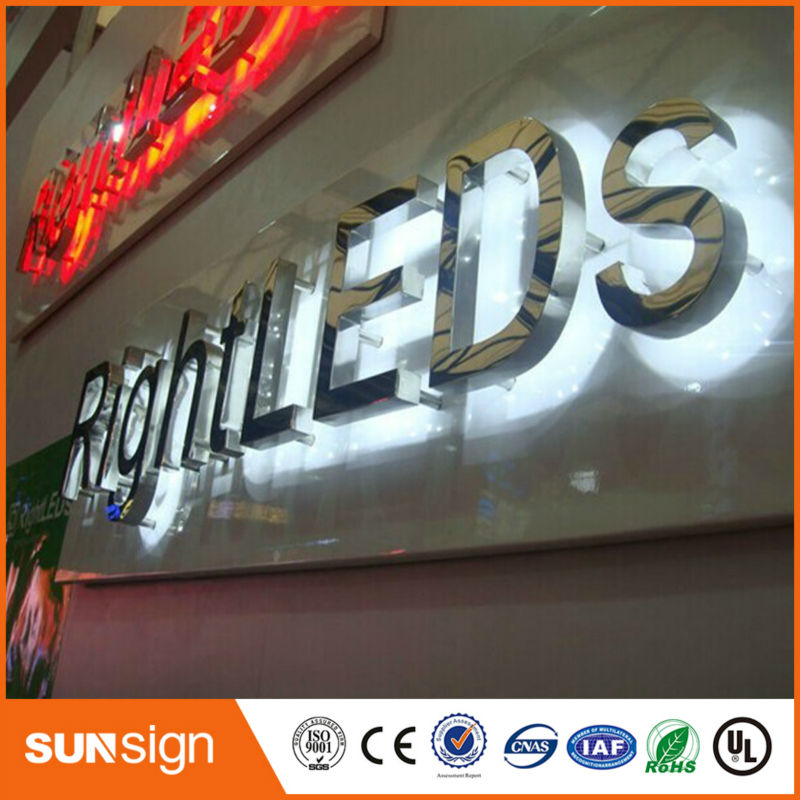 2019 New Style Waterproof Outdoor Large Led Letters Back Lit Ce Certificated