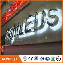 Wodoodporne zewnętrzne duże litery led podświetlany certyfikat CE tanie tanio shsuosai CN (pochodzenie) backlit letter sign 0078