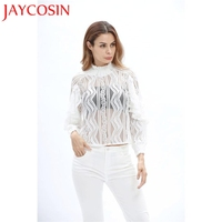 Hamboder 2017Summer Women Casual Pullover Long Sleeve Lace Shirt Tops Blouse With High Quality 1 Pcs
